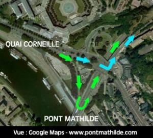 aménagement pont mathilde nord place saint paul