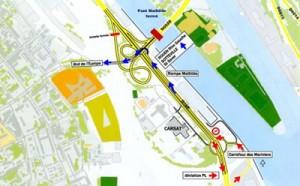 Acces Pont Mathilde Sud